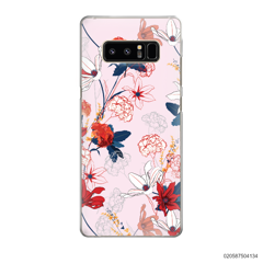 RED  LUXURY FLORAL - Samsung Galaxy Note 8
