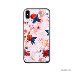 RED  LUXURY FLORAL - iPhone X/ Xs