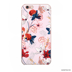 RED  LUXURY FLORAL - iPhone 6/6s