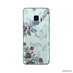 BLUE LUXURY FLORAL - Samsung Galaxy S9