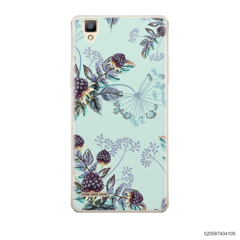 BLUE LUXURY FLORAL - Oppo F1