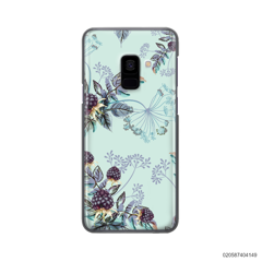 BLUE LUXURY FLORAL - Samsung Galaxy A8 Plus 2018