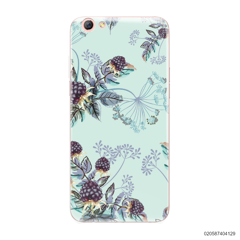 BLUE LUXURY FLORAL - Oppo F3