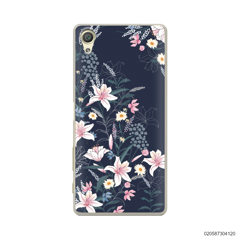 BLACK LUXURY FLORAL - Sony Xperia X