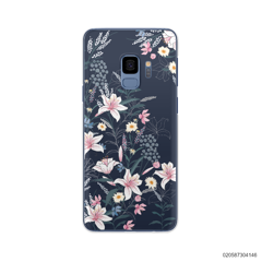 BLACK LUXURY FLORAL - Samsung Galaxy S9