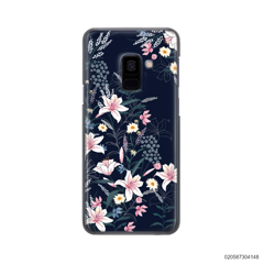 BLACK LUXURY FLORAL - Samsung Galaxy A8 2018