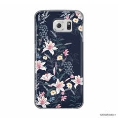 BLACK LUXURY FLORAL - Samsung Galaxy S6