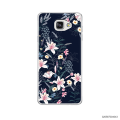 BLACK LUXURY FLORAL - Samsung Galaxy A5 2016