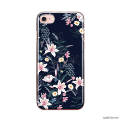 BLACK LUXURY FLORAL - iPhone 8