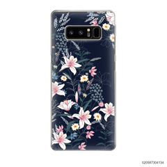 BLACK LUXURY FLORAL - Samsung Galaxy Note 8