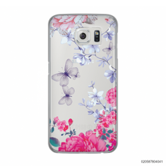 FLOWER GARDEN WITH VIOLET BUTTERFLY - Samsung Galaxy S6