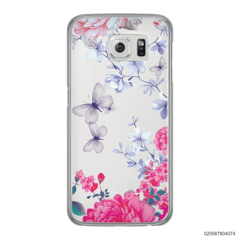 FLOWER GARDEN WITH VIOLET BUTTERFLY - Samsung Galaxy S6 Edge