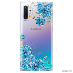 BLUE FLORAL NAME - Samsung Galaxy Note 10 Plus