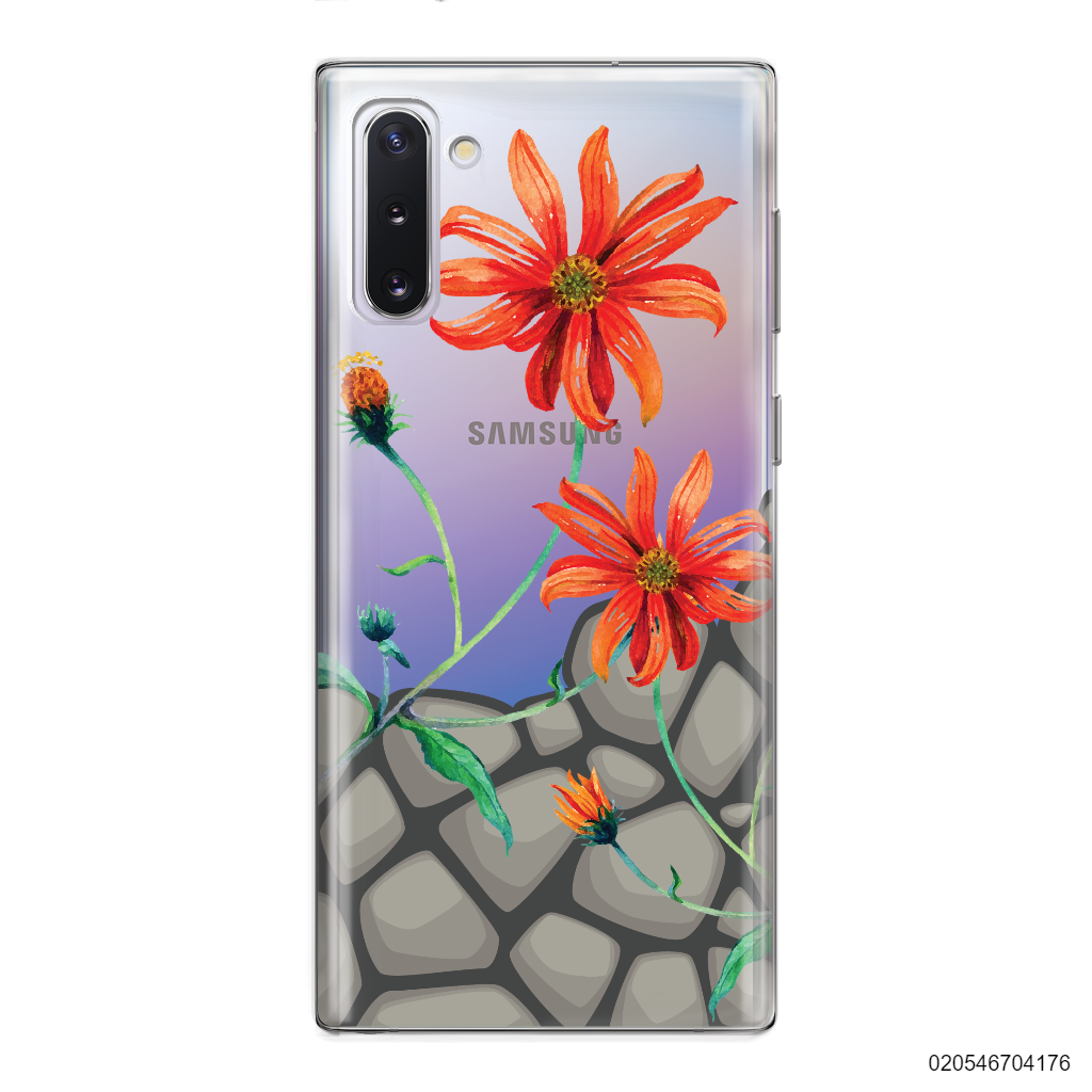 ORANGE DAISIES BLOOM IN STONE - Samsung Galaxy Note 10