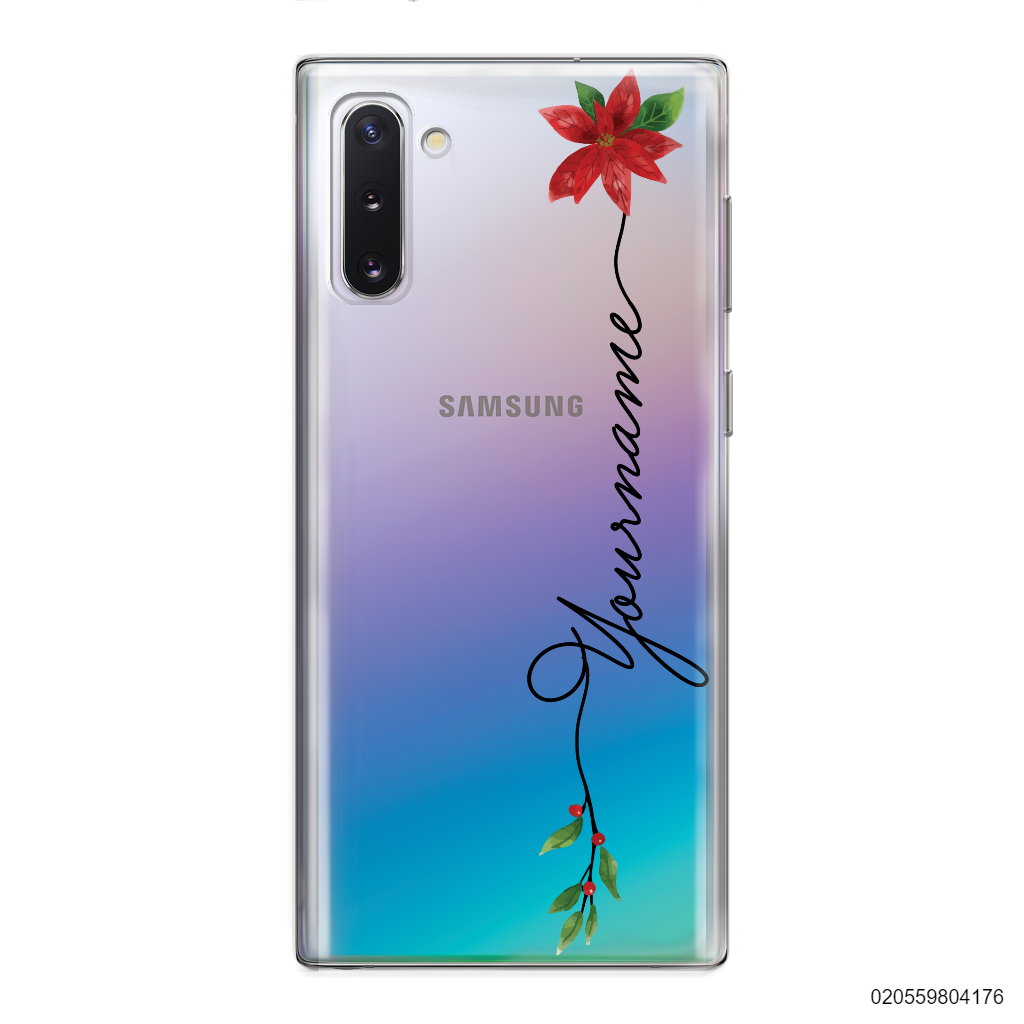 CUSTOM WITH CHRISTMAS LEAVES - Samsung Galaxy Note 10