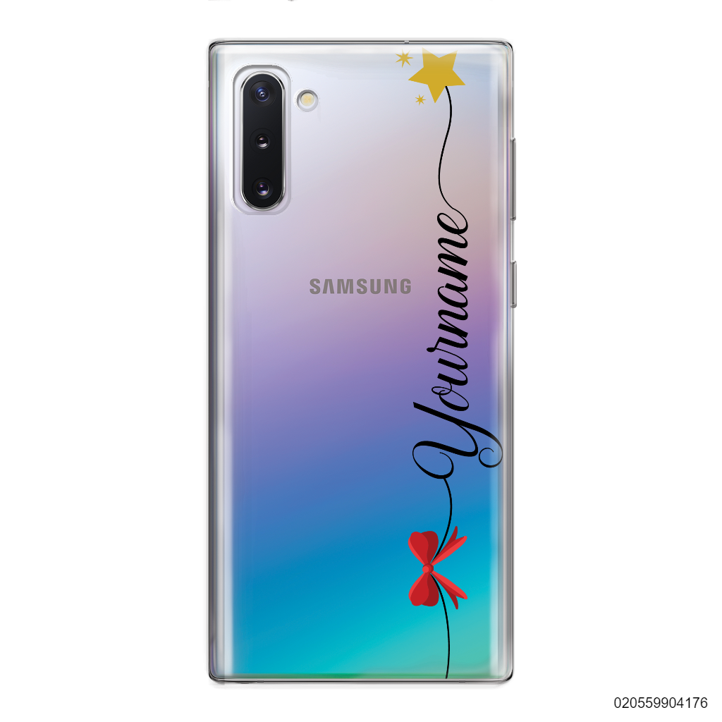 CUSTOM WITH RED RIBBON AND YELLOW STAR - Samsung Galaxy Note 10