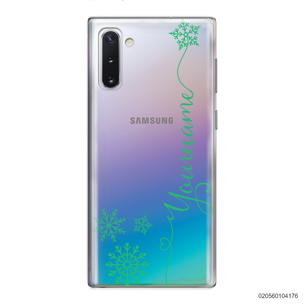 CUSTOM WITH SNOWFLAKES - Samsung Galaxy Note 10