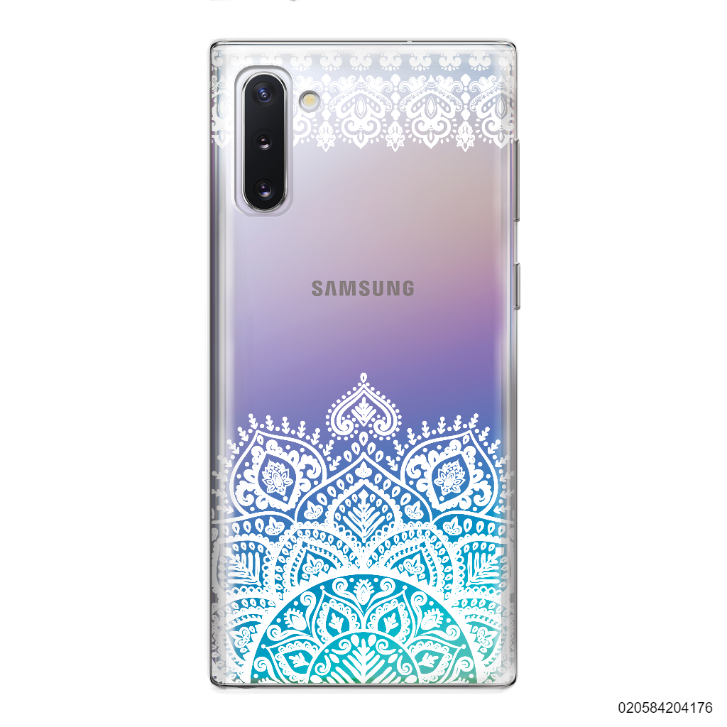 MANDALA AND FRILL LINES - WHITE - Samsung Galaxy Note 10