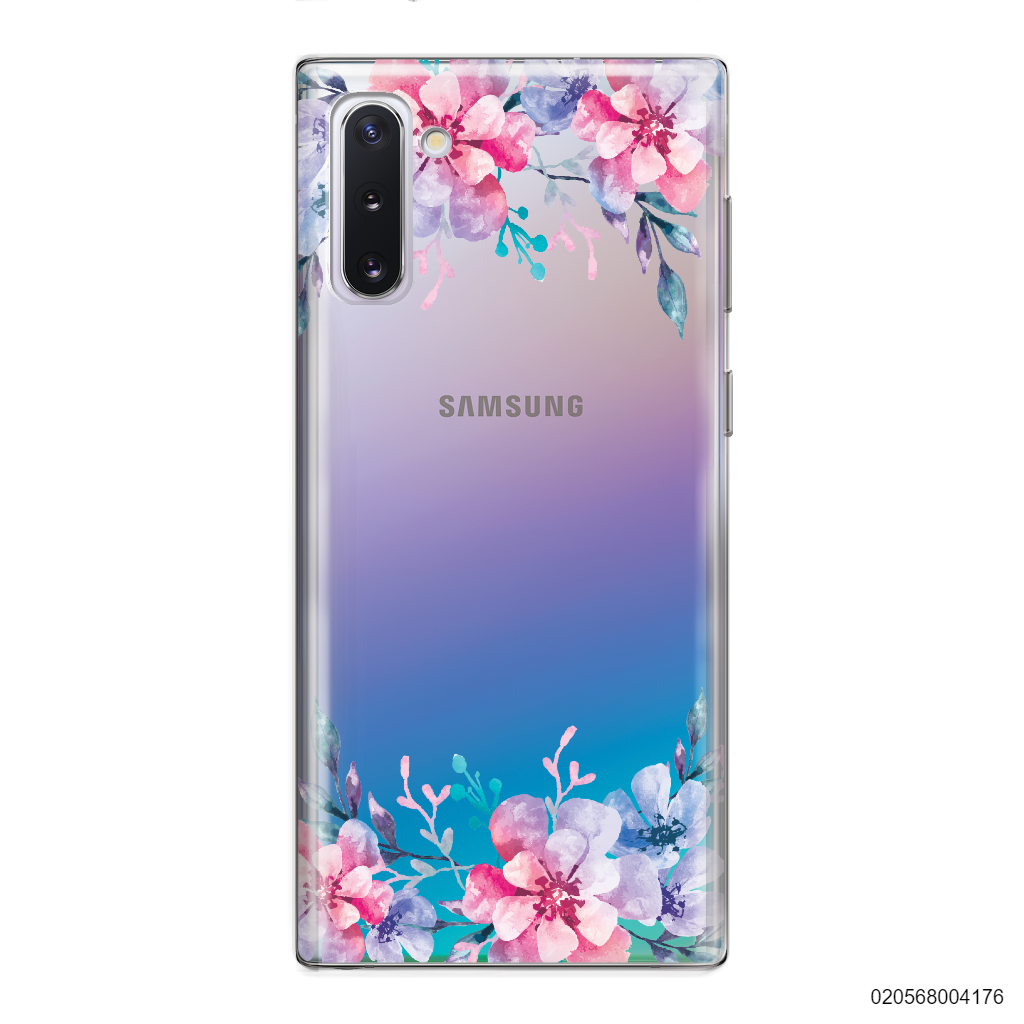 YOUR NAME WITH VIOLET FLOWERS - Samsung Galaxy Note 10