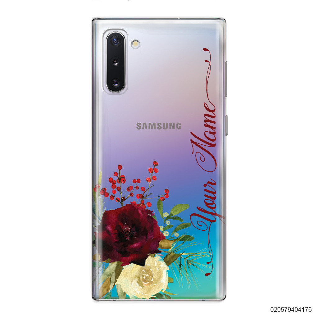 YOUR NAME WITH RED VELVET ROSE - Samsung Galaxy Note 10