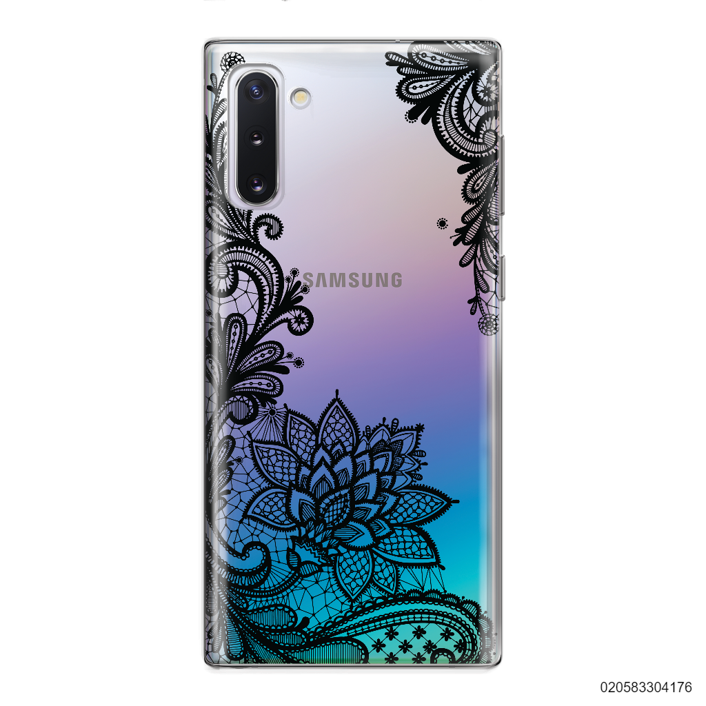FLORAL HENNA STYLE - BLACK - Samsung Galaxy Note 10