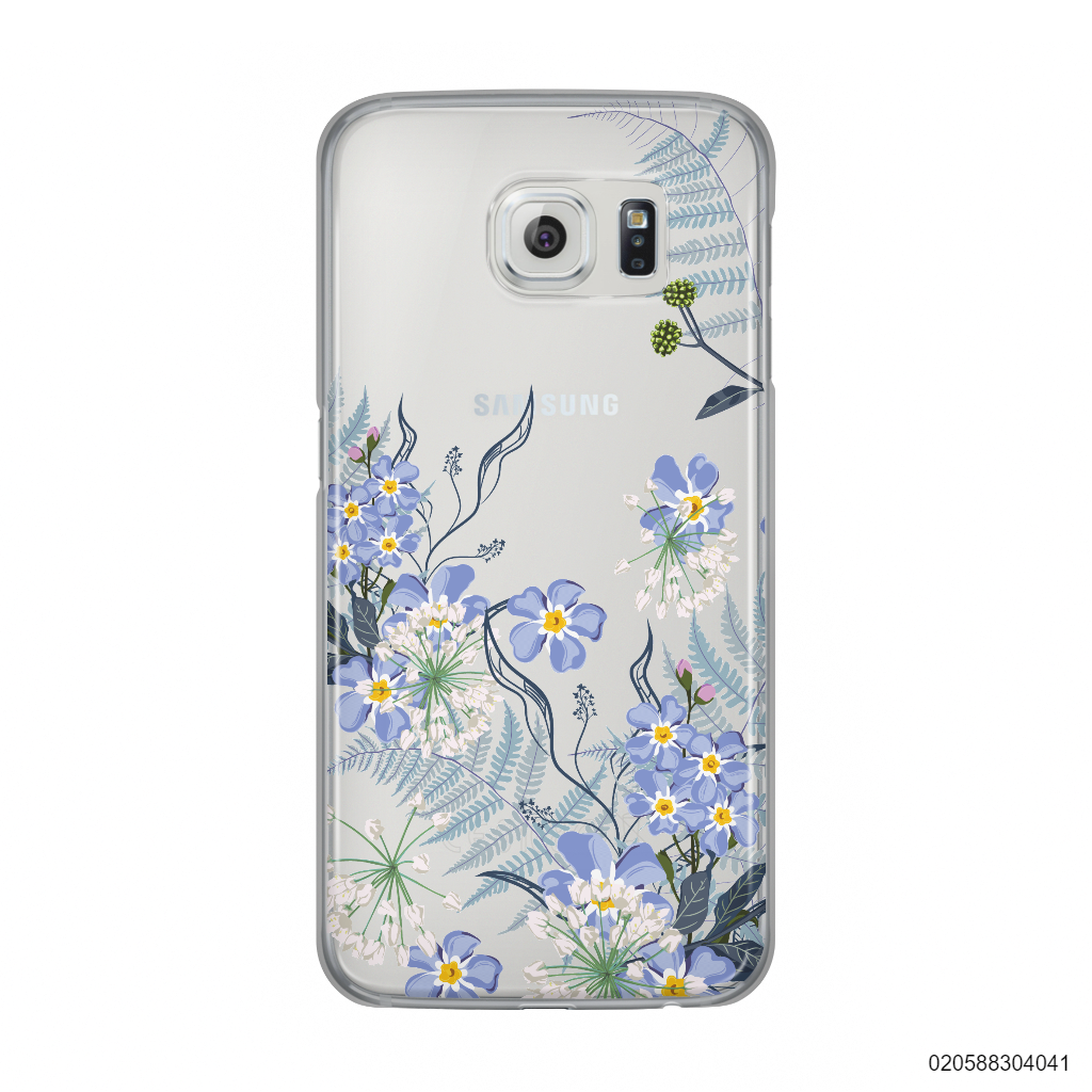 GENTLE BLUE FLOWERS - Samsung Galaxy S6