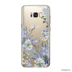 GENTLE BLUE FLOWERS - Samsung Galaxy S8