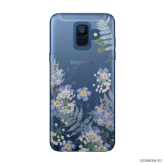 GENTLE BLUE FLOWERS - Samsung Galaxy A6 2018