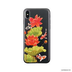RED LOTUS KOI - iPhone X/ Xs