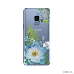 QUEEN BLUE FLOWER - Samsung Galaxy S9