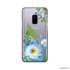 QUEEN BLUE FLOWER - Samsung Galaxy A8 2018