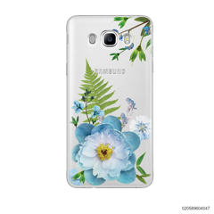 QUEEN BLUE FLOWER - Samsung Galaxy J7 2016