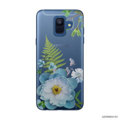 QUEEN BLUE FLOWER - Samsung Galaxy A6 2018