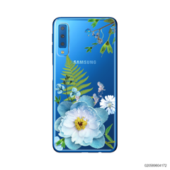 QUEEN BLUE FLOWER - Samsung Galaxy A7 2018