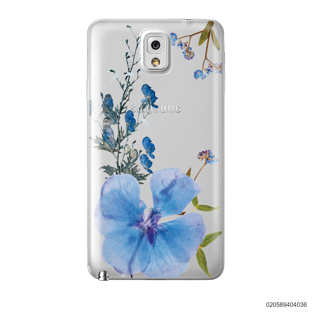 BLUE CONCEPT DRIED FLOWER - Samsung Galaxy Note 3