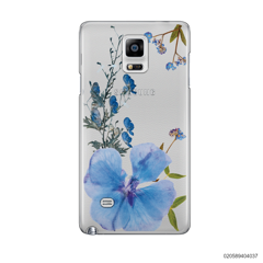 BLUE CONCEPT DRIED FLOWER - Samsung Galaxy Note 4