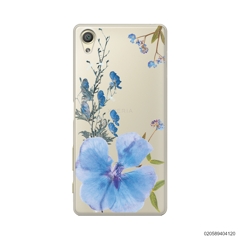 BLUE CONCEPT DRIED FLOWER - Sony Xperia X
