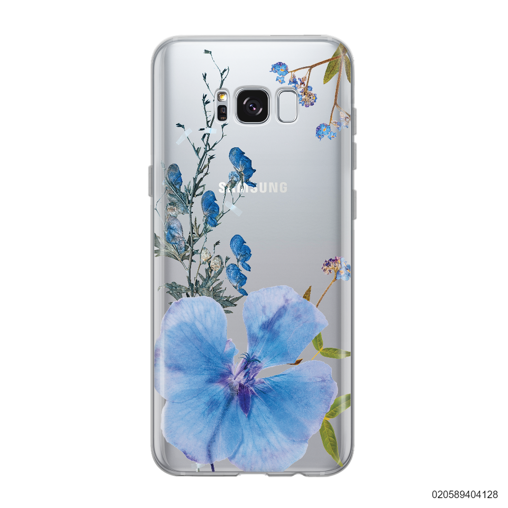 BLUE CONCEPT DRIED FLOWER - Samsung Galaxy S8 plus
