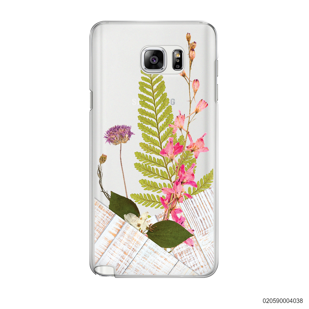 FLOWER ON WHITE WOOD - Samsung Galaxy Note 5