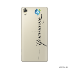 CUSTOM YOUR NAME WITH BLUE ROSE - Sony Xperia X