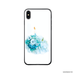 GIRL IN MAGIC BLUE ROSE DRESS - Iphone X/ Xs