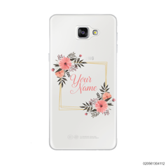 CUSTOMIZE ORANGE FLOWERS FRAME - Samsung Galaxy A9 Pro