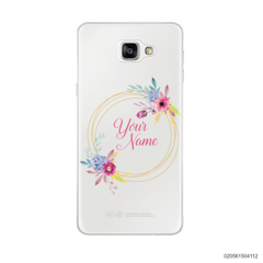 CUSTOMIZE WITH COLORFULL FLOWERS FRAME - Samsung Galaxy A9 Pro