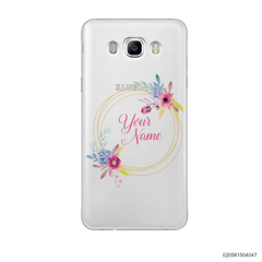 CUSTOMIZE WITH COLORFULL FLOWERS FRAME - Samsung Galaxy J7 2016