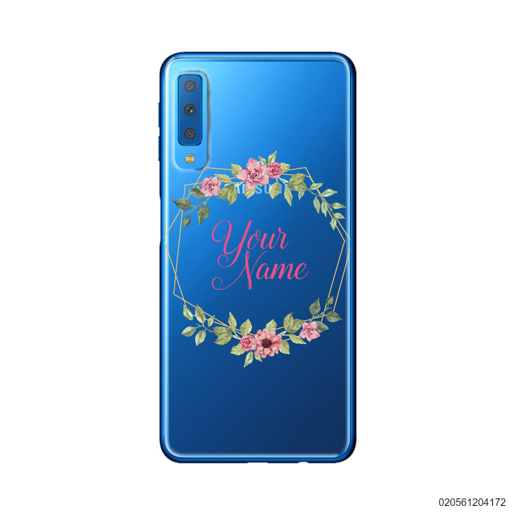 CUSTOMIZE LOVELY FLOWERS FRAME - Samsung Galaxy A7 2018