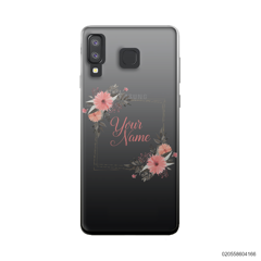 CUSTOMIZE ORANGE FLOWERS FRAME - Samsung Galaxy A8 Star