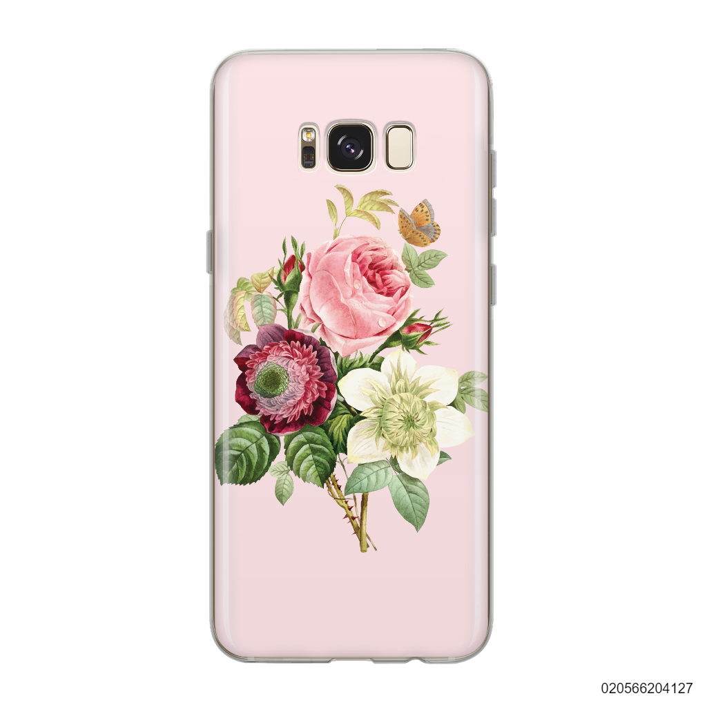 PEONY BOUQUET ON PINK THEME - Samsung Galaxy S8