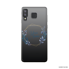 CUSTOMIZE BLUE LEAVES FRAME - Samsung Galaxy A8 Star