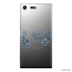CUSTOMIZE BLUE LEAVES FRAME - Sony Xperia XZ Premium