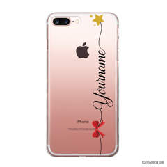 CUSTOM WITH RED RIBBON AND YELLOW STAR - iPhone 7 plus